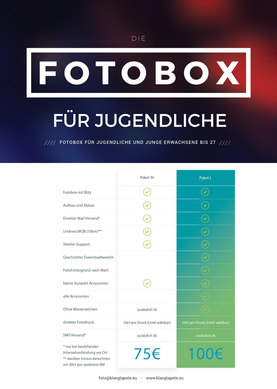 Fotobox-Pakete